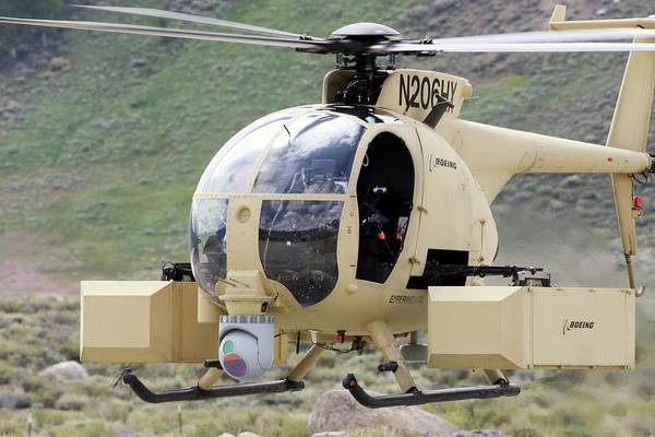 Demonstrators Photograph - Unmanned Little Bird Helicopter by Us Navy