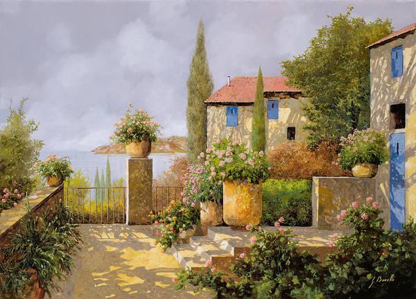 Bushes Painting - Uno Sguardo Sul Mare by Guido Borelli