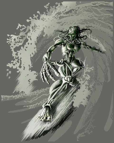 Cyborg Digital Art - Unplugged by Vanessa Bates