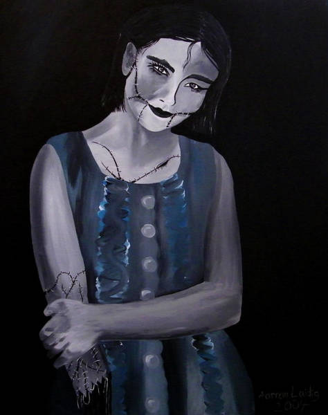 Voodoo Doll Painting - Untitled  04 Zombie Doll Painting by Aarron  Laidig