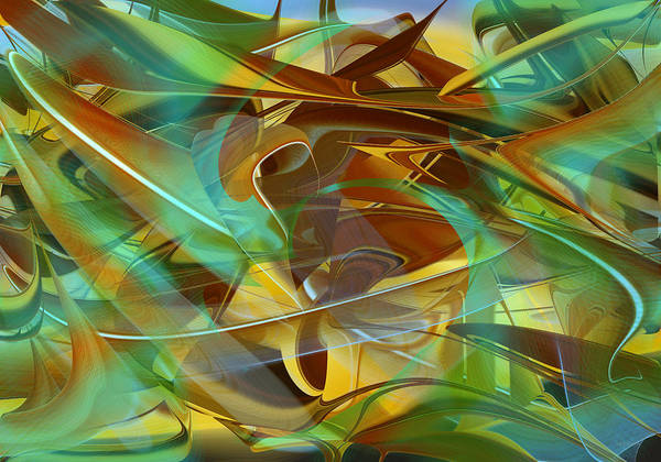 Digital Art - Abstract Number Fourteen by rd Erickson