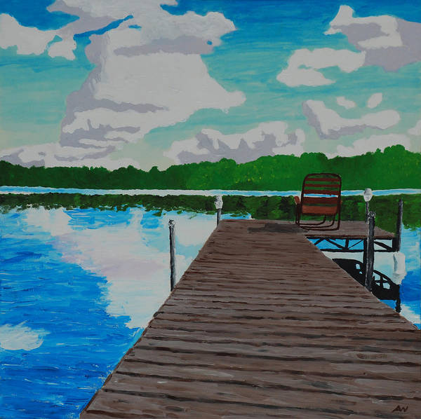 Up North Painting - Untitled by Alex Wasnick