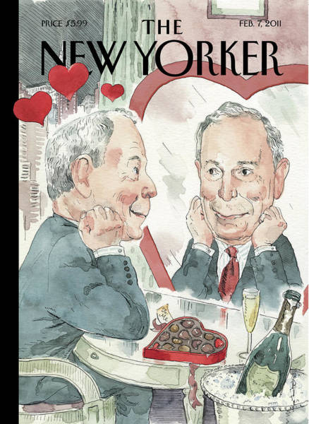 Love Painting - New Yorker February 7th, 2011 by Barry Blitt