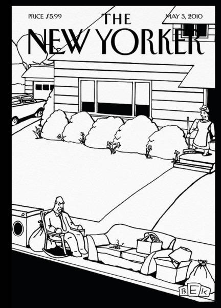 Men Painting - New Yorker May 3rd, 2010 by Bruce Eric Kaplan
