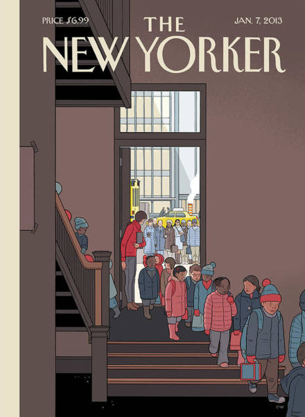 2013 Painting - New Yorker January 7th, 2013 by Chris Ware
