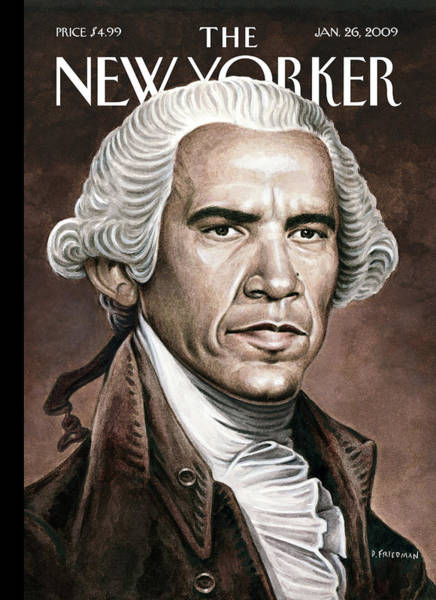 Obama Painting - New Yorker January 26th, 2009 by Drew Friedman