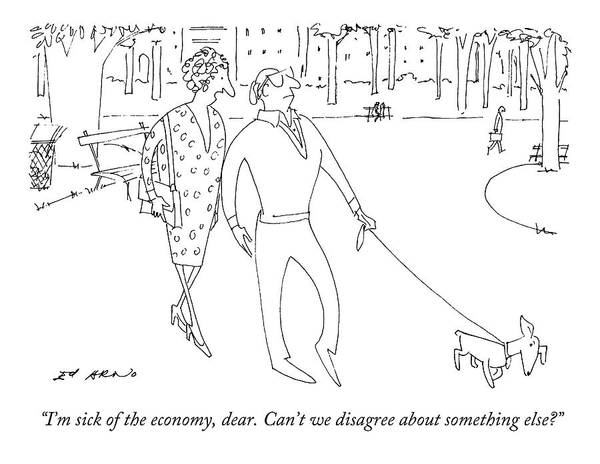 Sick Drawing - I'm Sick Of The Economy by Ed Arno