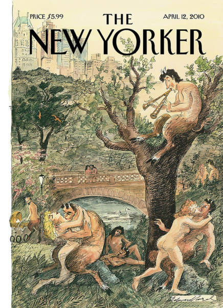 Painting - New Yorker April 12th, 2010 by Edward Sorel