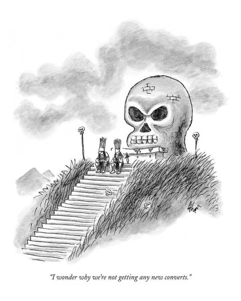 Staircase Drawing - I Wonder Why We're Not Getting Any New Converts by Frank Cotham