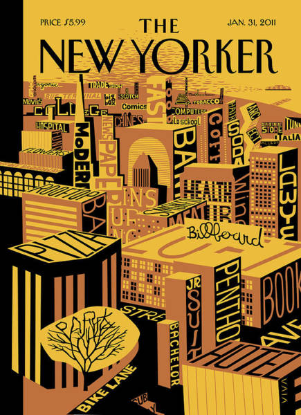 Skyline Painting - New Yorker January 31st, 2011 by Frank Viva