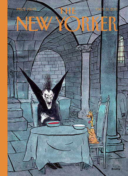 Painting - New Yorker October 31st, 2011 by George Booth