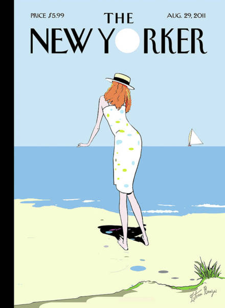 Water Painting - New Yorker August 29th, 2011 by Istvan Banyai