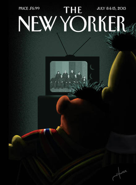 2013 Painting - New Yorker July 8th, 2013 by Jack Hunter