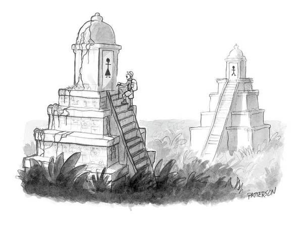 Ancient Drawing - New Yorker April 24th, 2006 by Jason Patterson
