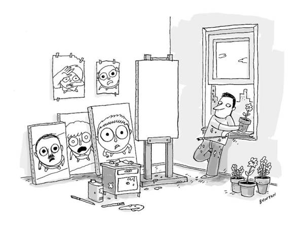 Painting Drawing - New Yorker March 6th, 2017 by Jim Bento