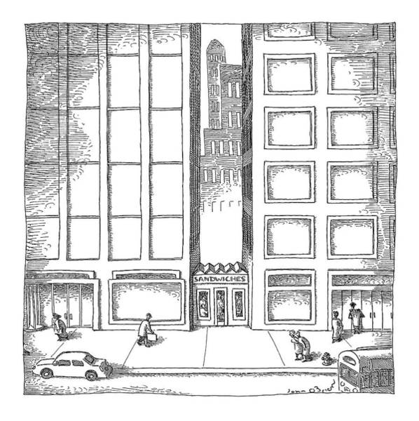 Architecture Drawing - New Yorker December 12th, 2005 by John O'Brien
