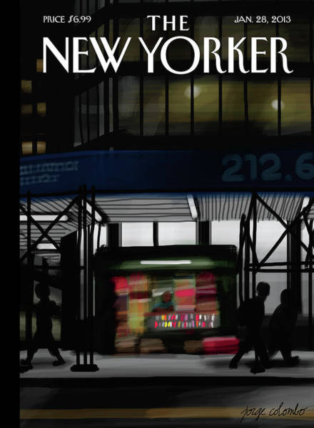 New York City Painting - Newsstand by Jorge Colombo