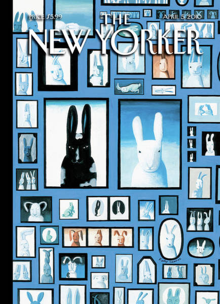 Kathy Osborn Painting - New Yorker April 5th, 2010 by Kathy Osborn
