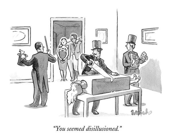 Magician Drawing - You Seemed Disillusioned by Liam Walsh