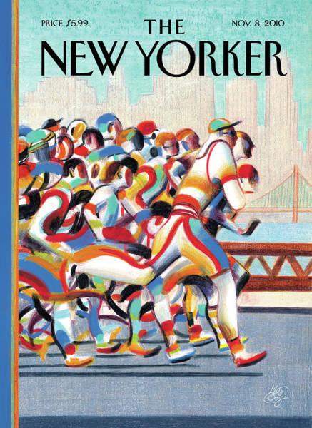 Skyline Painting - New Yorker November 8th, 2010 by Lorenzo Mattotti