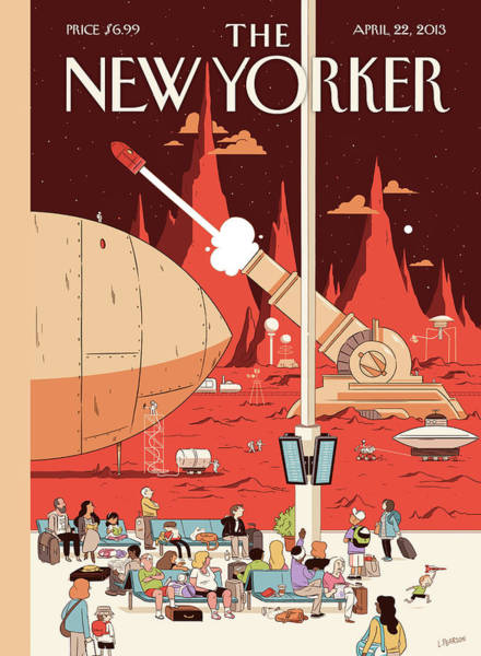 2013 Painting - New Yorker April 22nd, 2013 by Luke Pearson