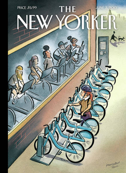 Bicycle Painting - New Yorker June 3, 2013 by Marcellus Hall