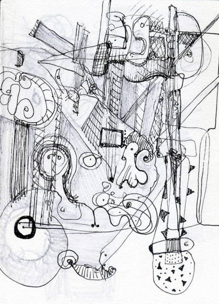 Drawing - Steampunk - Drawing 2 by Stephen Lucas