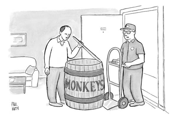 Barrels Drawing - Add Your Own Caption Week # 247 by Paul Noth