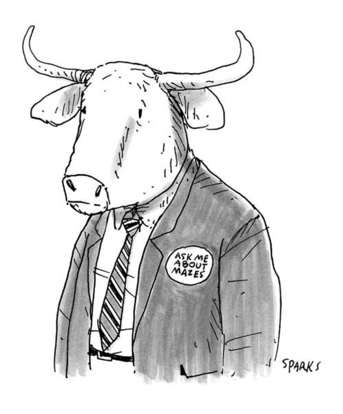 Rich Drawing - New Yorker October 24th, 2016 by Rich Sparks