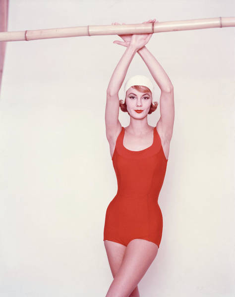 Bathing Suit Photograph - Vogue January 1st, 1958 by Richard Rutledge