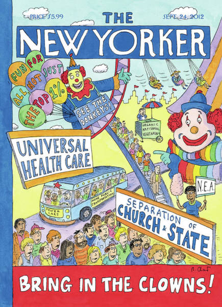 Election Wall Art - Painting - New Yorker September 24th, 2012 by Roz Chast