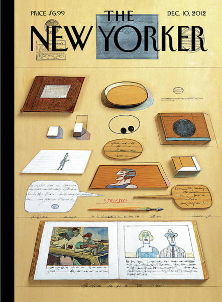 News Painting - New Yorker December 10th, 2012 by Saul Steinberg