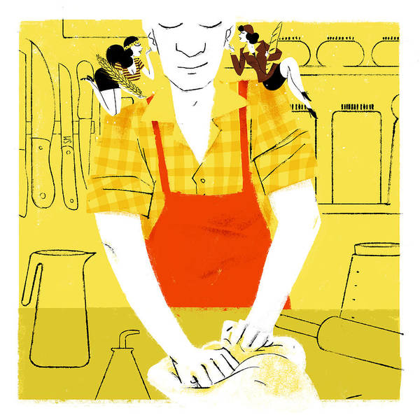 Cooking Digital Art - New Yorker November 4th, 2013 by Simone Massoni
