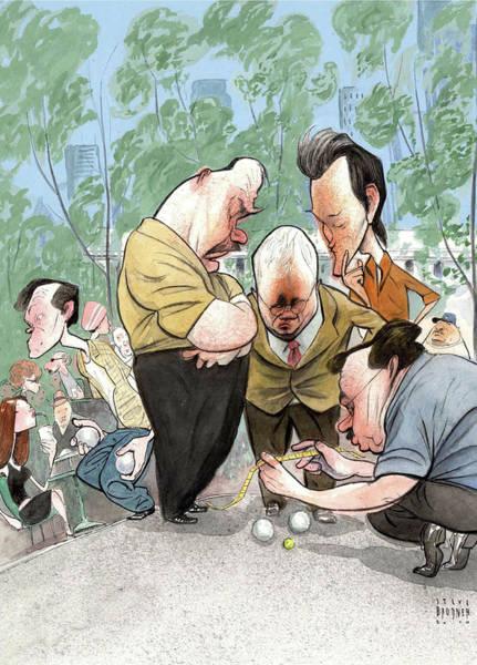 Petanque Wall Art - Digital Art - New Yorker August 2nd, 2010 by Steve Brodner