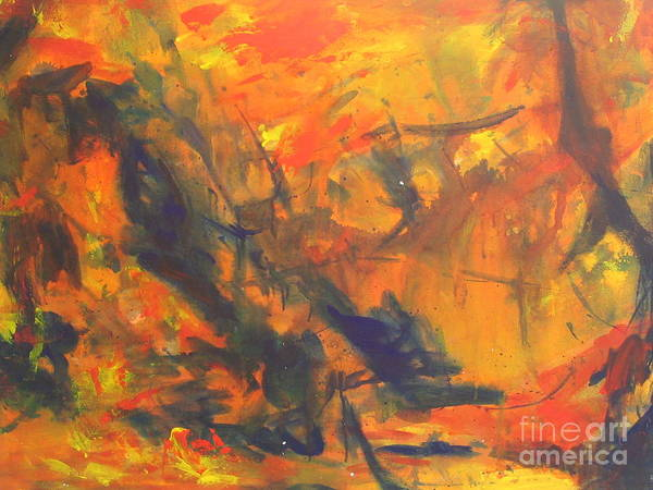 Wall Art - Painting - The Autumn Leaves by Fereshteh Stoecklein