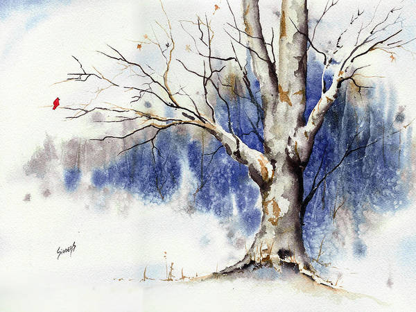 Painting - Untitled Winter Tree by Sam Sidders