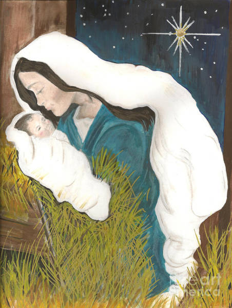 Painting - Unto Us A Child Is Born-glory To God - Christmas by Jan Dappen