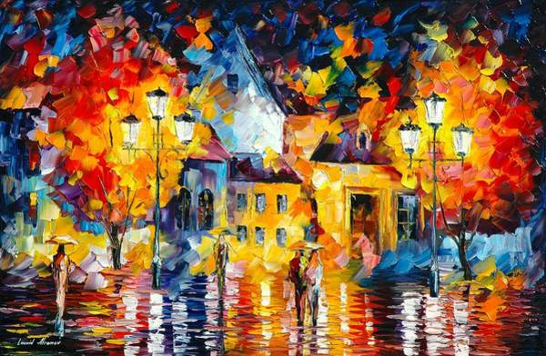 Unusual Perspective Wall Art - Painting - Unusual City by Leonid Afremov
