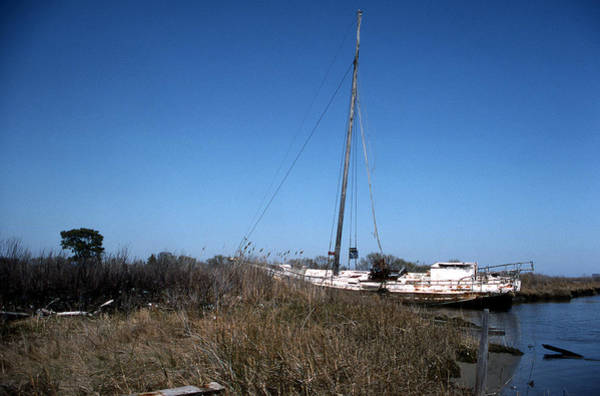 Skipjack Wall Art - Photograph - Up A Ditch by Skip Willits