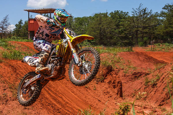 Dirtbike Photograph - Up And Away by Eric McGrath