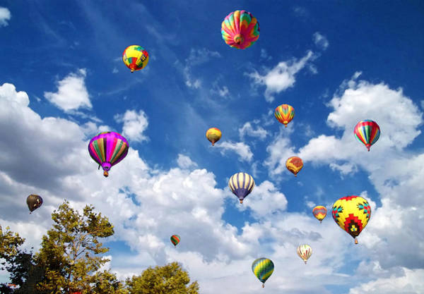 Wicker Basket Digital Art - Up And Away - Hot Air Balloons by Glenn McCarthy Art and Photography