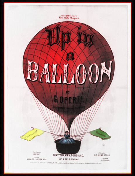 Photograph - Up In A Balloon by Bill Cannon