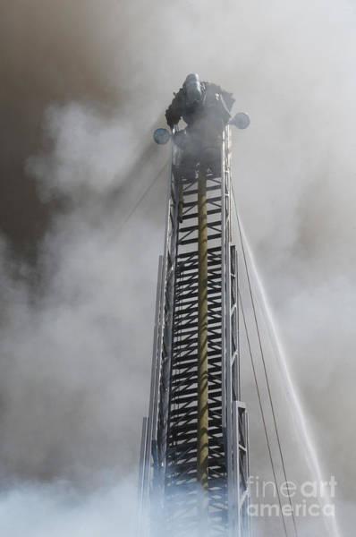 Firemen Photograph - Up In Smoke by Dan Holm