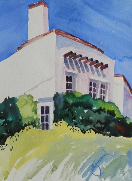 Elwood Blues Painting - Up On A Hill by Jann Elwood