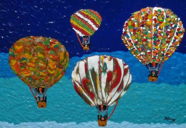 Mixed Media - Up Up And Away by Deborah Stanley