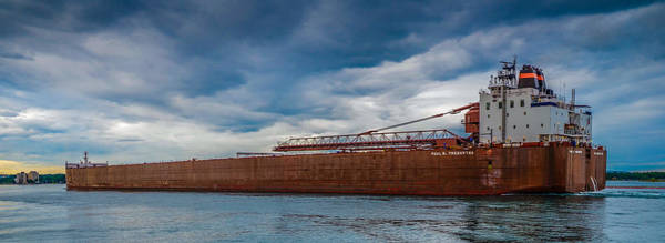 Freighter Wall Art - Photograph - Upbound At Mission Point 2 by Gales Of November