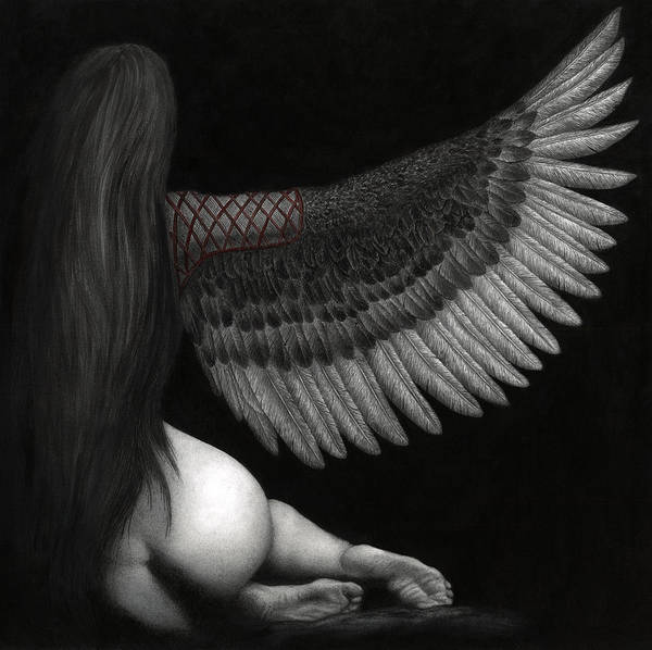 Wall Art - Painting - Upon Ashen Wings by Pat Erickson