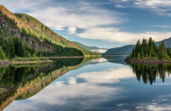 Vancouver Island Photograph - Upper Campbell Lake, Vancouver Island by Witold Skrypczak