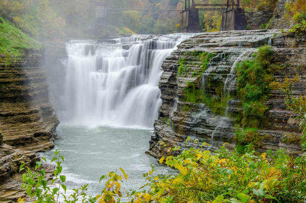 Photograph - Upper Falls In Mist by Guy Whiteley