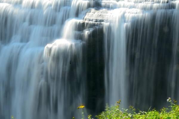 Photograph - Upper Falls Letchworth Sp by Walt Sterneman